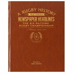 Personalised Six Nations Rugby History Book | Concise history for avid fans