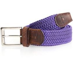 Purple Woven Fabric Belt