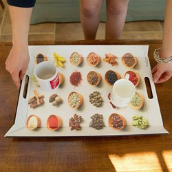 Reversible Fold Flat Tray - Spices Pots   Very clever design