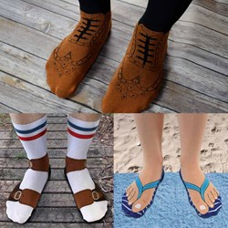Set of 3 Brogue, Flip Flop & Sandal Socks | One of our Best Sellers!