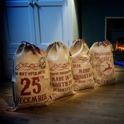 Christmas Sack | Choose from 4 Hessian Designs