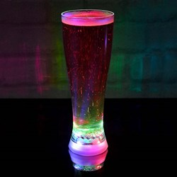 Multi Coloured Strobing Beer Glass | a full pint!