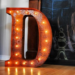 Vintage Rusty Letter Lights | A to Z