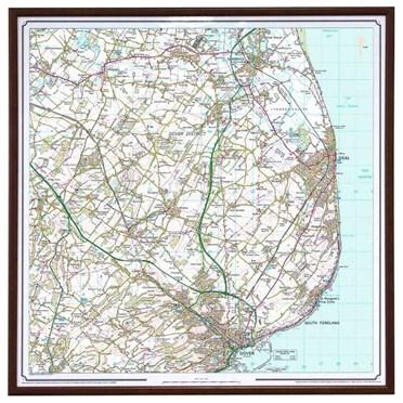 Personalised Framed Ordnance Survey Map