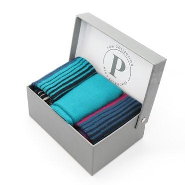 Men's triple stripe mix sock box