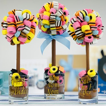 An image of Personalised Liquorice Allsorts Sweet Tree | 25cm tall