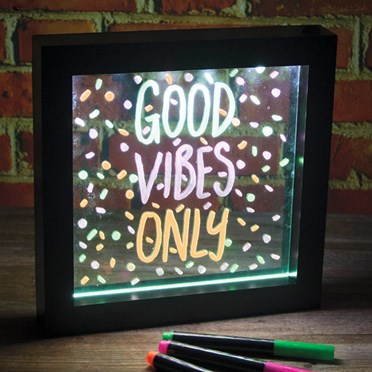 Light Up Neon Message Frame
