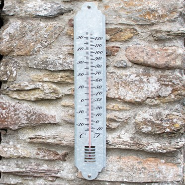 An image of Giant Outdoor Thermometer - Zinc
