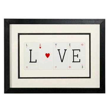 Vintage Playing Cards Love Frame