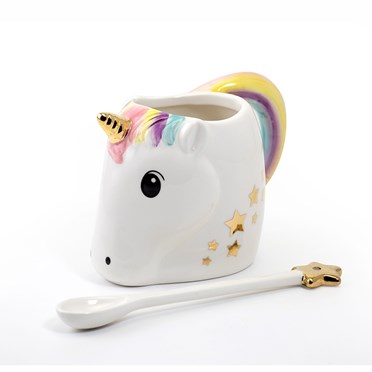Unicorn Mug and Star Wand Spoon