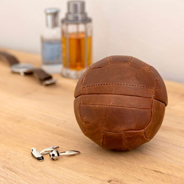 Football Cufflink Case With Cufflinks Set