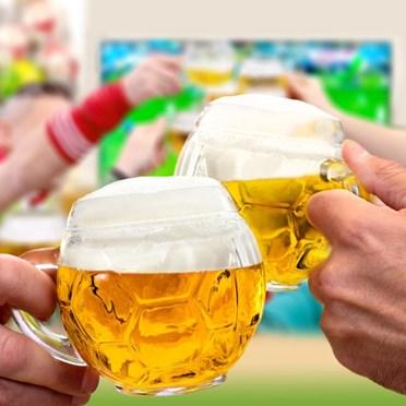 Pair of Football Beer Glasses