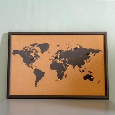 World Map Cork Boards