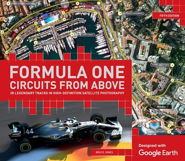 An image of Formula One Circuits From Above Book | Designed With Google Earth