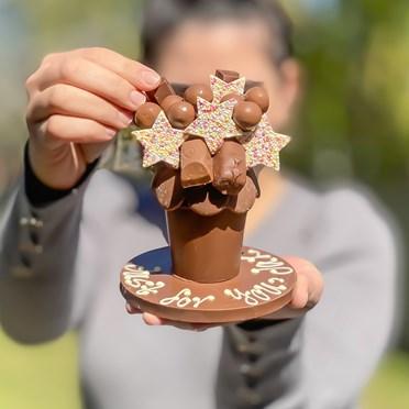 Personalised Mini Belgian Chocolate Smash Pot