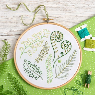 Forest Ferns Embroidery Kit