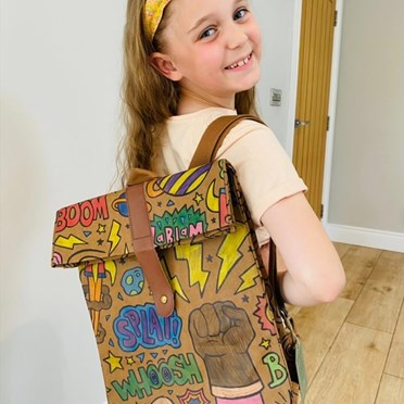 Power Colour-in Backpack