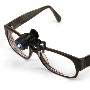 Mini Clip-on LED Spotlight for Glasses/Spectacles