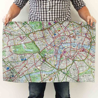 An image of Personalised Map Tea Towel | OS or London Street Map