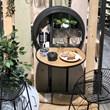 Wine Bar with Foldable Shelf