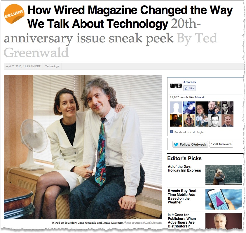 Wired Magazine Celebrates 20th! (Rescued By Chris Anderson And Team...)