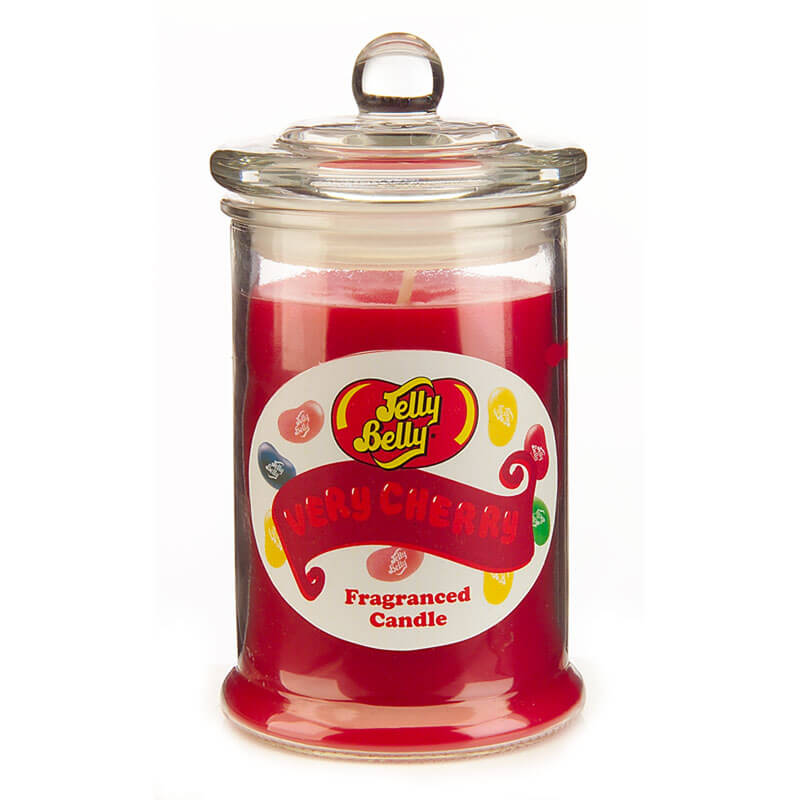 Jelly Belly Fragranced Candle Jar - Very Cherry Candle