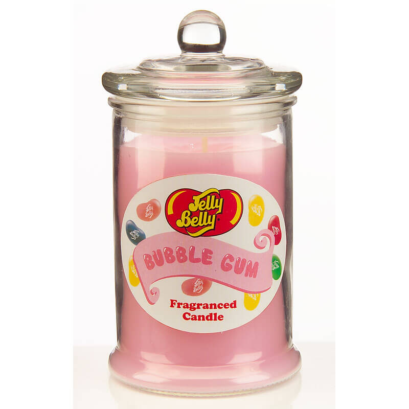 Jelly Belly Fragranced Candle Jar - Bubble Gum Candle