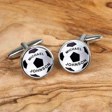 Personalised Cufflinks - Footballs