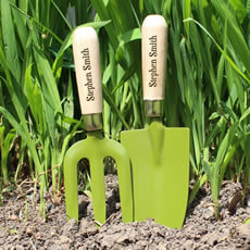 Personalised Trowel and Fork Set