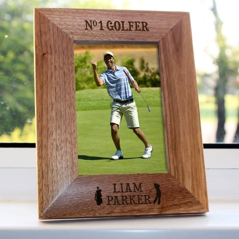 Personalised No.1 Golfer Photo Frame