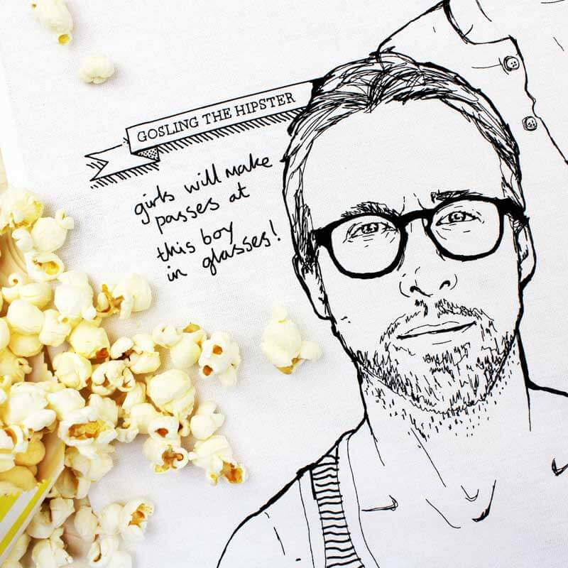 Ryan Gosling Tea Towel