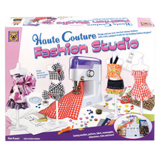 Haute Couture Fashion Studio with Sewing Machine