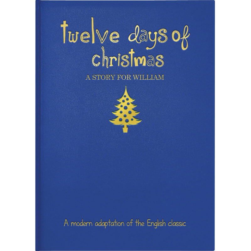 Personalised 12 days of Christmas Hardback Book - Christmas  gift