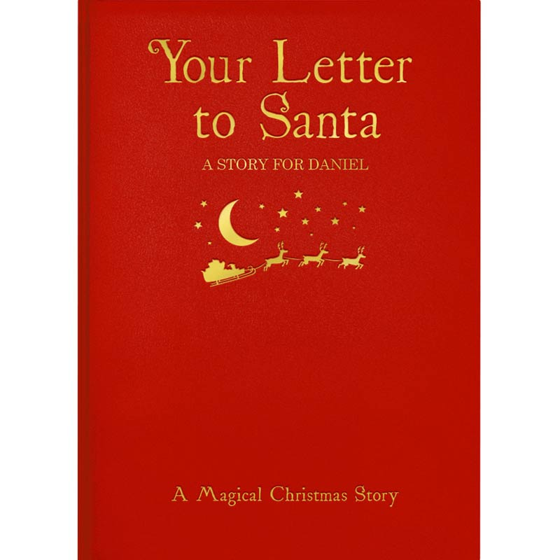 Personalised Letter to Santa Book - Hardback - Christmas  gift