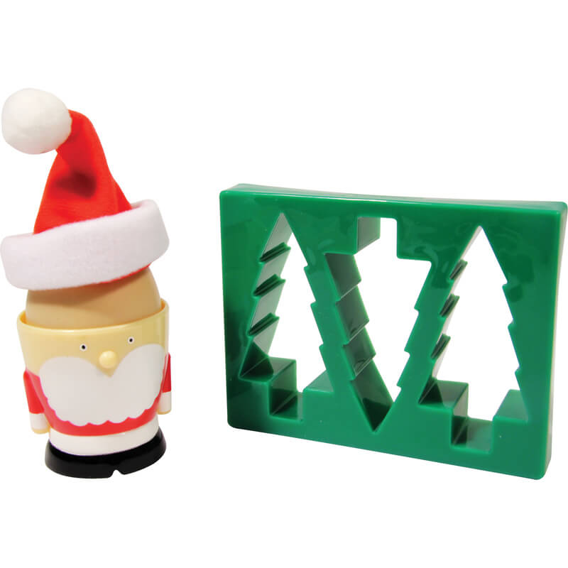 Santa Egg Cup and Toast Cutter - Christmas  gift