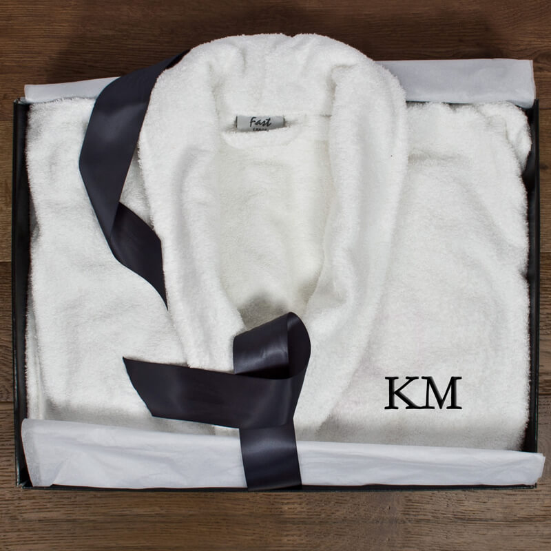 Personalised Luxury Egyptian Cotton Bathrobe