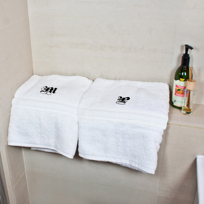 Personalised Luxury Bath Towels - Set Of Two