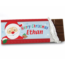 Personalised Santa Chocolate Bar