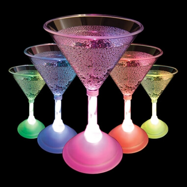 LED Cocktail Glass