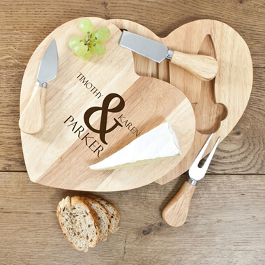 Personalised Romantic Cheese Board Set