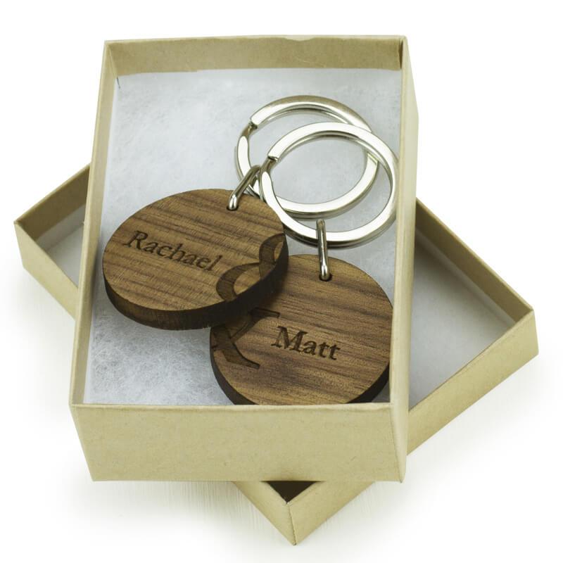 Personalised Couples Keyring Set