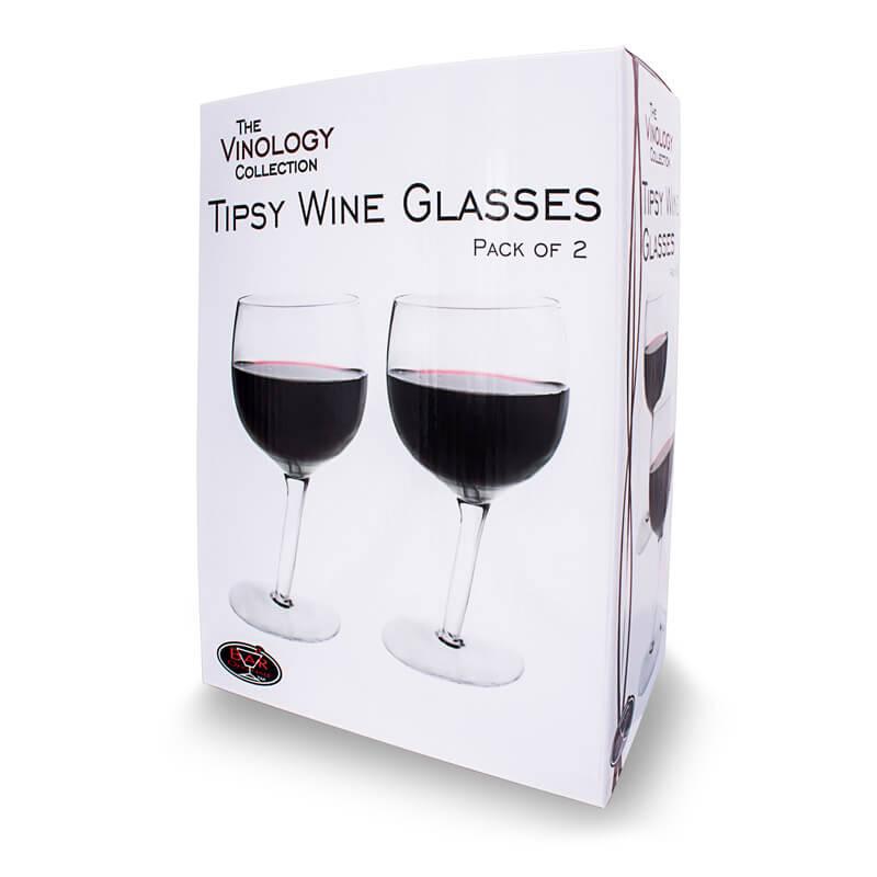 Tipsy Wine Glasses (2 pk)
