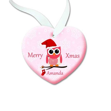 Personalised Owl Christmas Decoration
