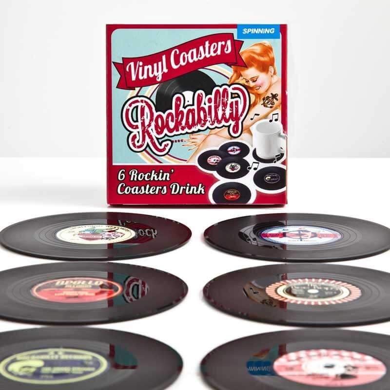 Rockabilly Vinyl Coasters