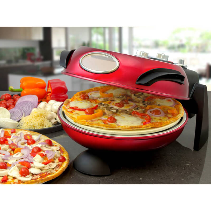 Rotating Stone Baked Pizza Maker