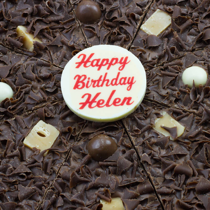 "Personalised Birthday Chocolate Pizza 10"" - 40th Birthday Gifts For Her"