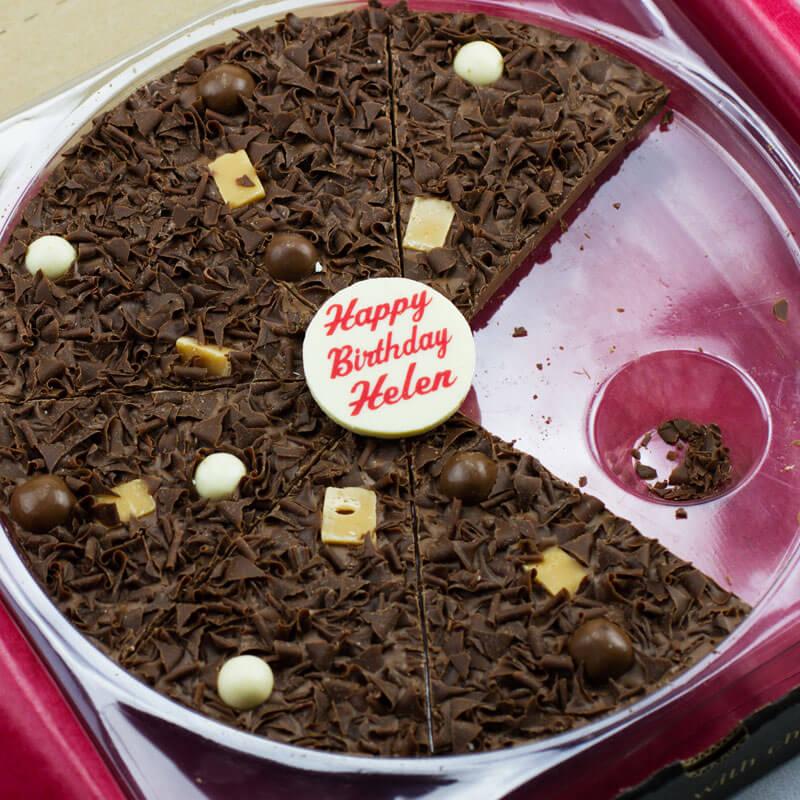 "Personalised Birthday Chocolate Pizza 10"""