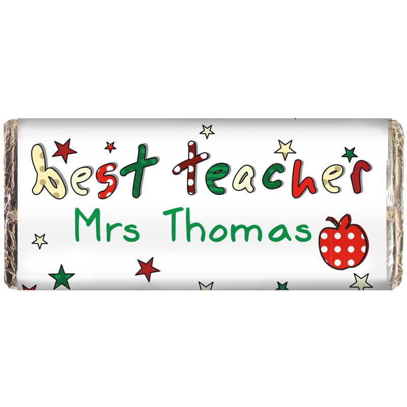Personalised Best Teacher Chocolate