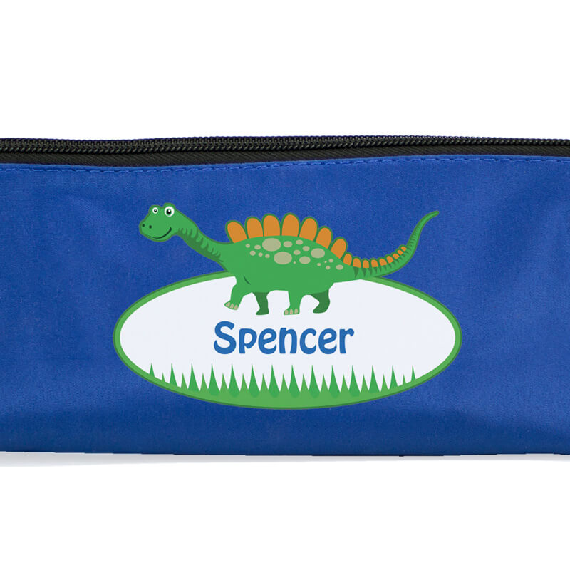 Personalised Dinosaur Pencil Case Set