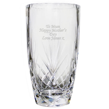 Personalised Crystal Oval Vase